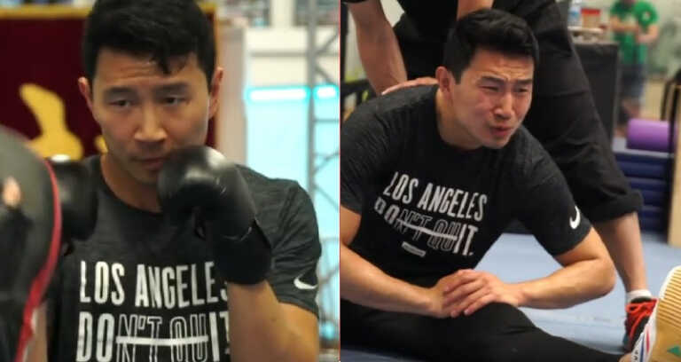 Simu Liu's grueling first-day training for 'Shang-Chi' revealed in behind-the-scenes footage