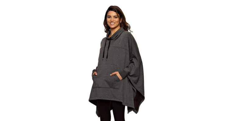 We Refuse to Go Through Fall Without This Fleece-Lined Sweatshirt Poncho